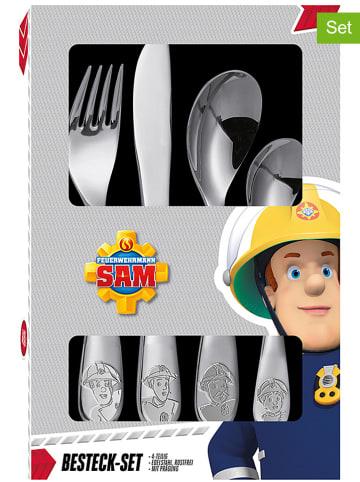 """Feuerwehrmann Sam 4tlg. Edelstahl-Besteckset """"Feuerwehrmann Sam"""""""
