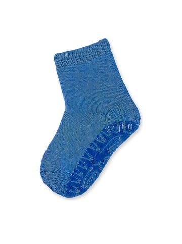 Sterntaler Antypoślizgowe skarpetki w kolorze niebieskim