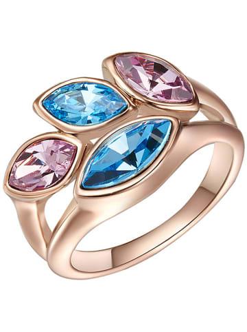 Saint Francis Crystals Rosévergold. Ring mit Swarovski Kristallen