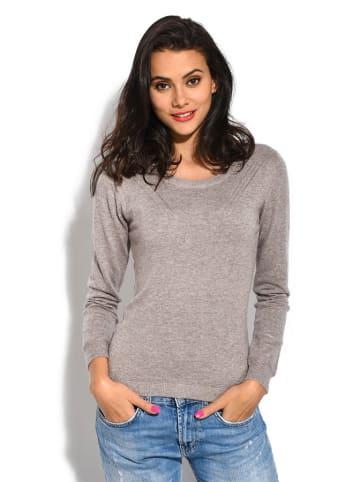 ASSUILI Sweter w kolorze beżowym