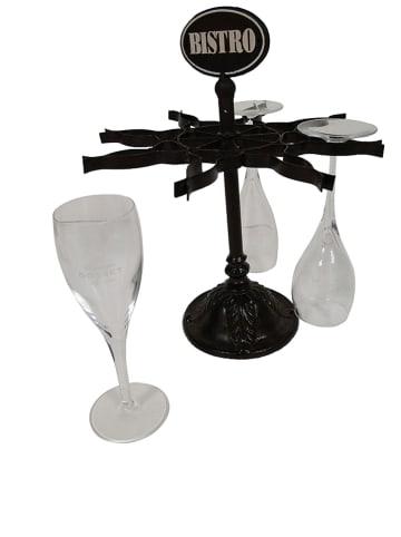 Anticline Gläserhalter in Schwarz - (H)32 x Ø 27 cm
