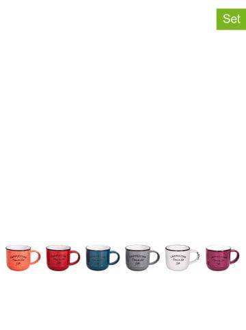 Anticline Kubki (6 szt.) w różnych kolorach do cappuccino - Ø 7,5 cm