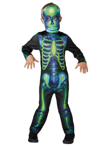 """Rubie`s 2-częściowy kostium """"Szkielet"""" w kolorze czarno-zielonym"""