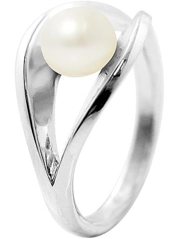 Pearline Weißgold-Ring mit Perle