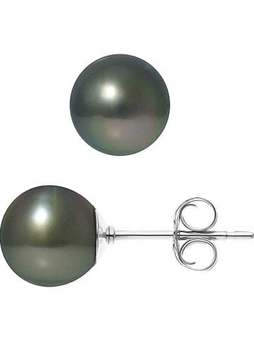 Pearline Kolczyki-wkrętki w kolorze tahiti z perłami