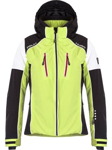 "Hyra Ski-/ Snowboardjacke ""Silvaplana"" in Limette/ Schwarz"