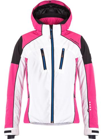 "Hyra Ski-/ Snowboardjacke ""Silvaplana"" in Pink/ Weiß"
