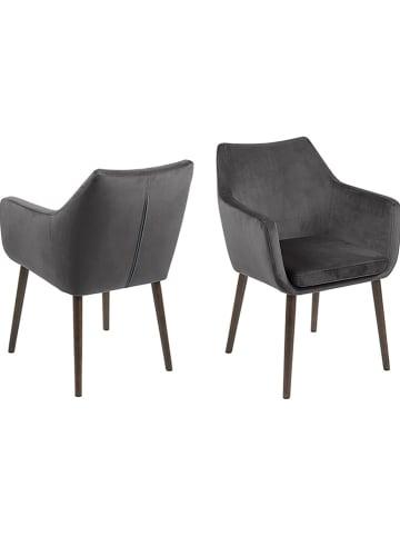 """AC Design Krzesło """"Nora"""" w kolorze antracytowym - 58 x 84 x 58 cm"""