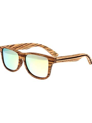 """Earth wood Okulary unisex """"Solana"""" w kolorze brązowo-srebrnym"""