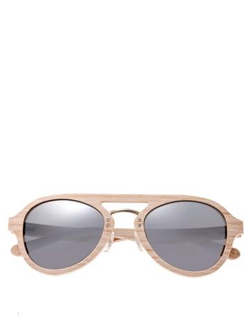 """Earth wood Okulary przeciwsłoneczne unisex """"Cruz"""" w kolorze brązowo-srebrnym"""