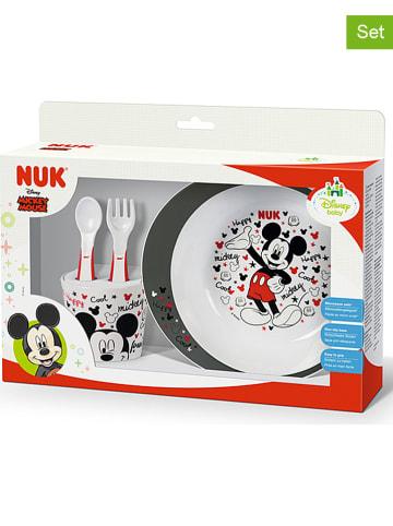 NUK 4-częściowy zestaw w kolorze biało-czarno-czerwonym