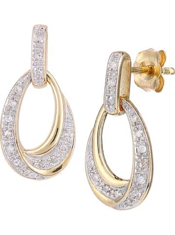 Diamant Exquis Gouden oorstekers met diamanten