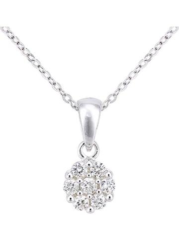 Revoni Złoty naszyjnik z diamentową zawieszką - dł. 46 cm