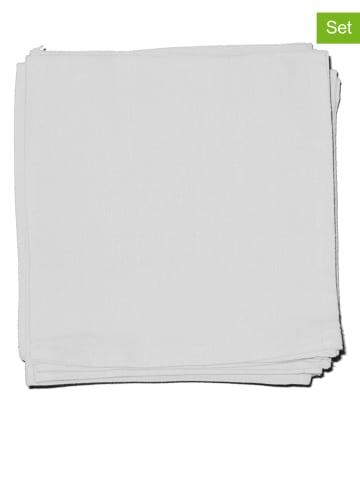 """Calitex 12-delige set: servetten """"Arc en ciel"""" wit"""