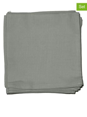 """Calitex 12-delige set: servetten """"Arc en ciel"""" grijs"""