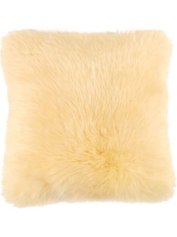 Kaiser Naturfellprodukte H&L Poszewka w kolorze kremowym na poduszkę
