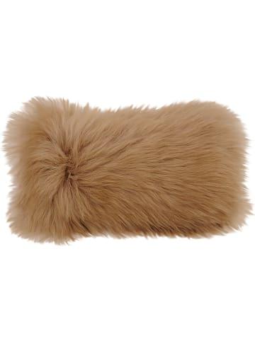 Kaiser Naturfellprodukte H&L Poszewka w kolorze jasnobrązowym na poduszkę