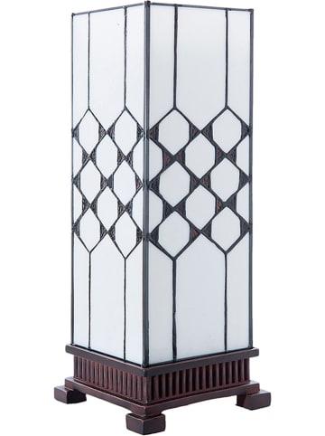 LumiLamp Tischleuchte in Weiß/ Braun - (H)44 cm