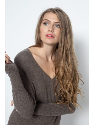 "Just Cashmere Kaschmir-Kleid ""Tracy"" in Taupe"