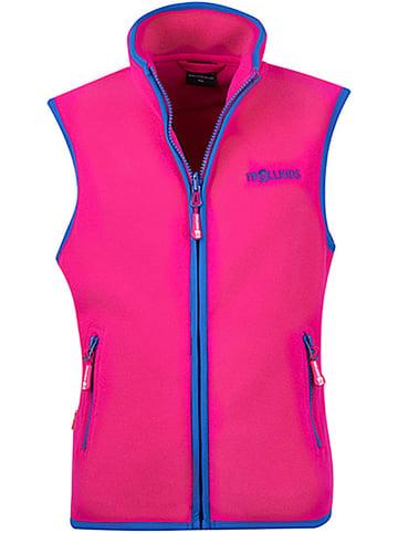 """Trollkids Fleece bodywarmer """"Arendal"""" roze/blauw"""