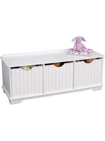 KidKraft Spielzeugtruhe in Weiß - (B)96 x (H)37 x (T)38,5 cm
