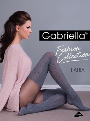 """Gabriella Strumpfhose """"Fantaisie"""" in Grau - 60 DEN"""