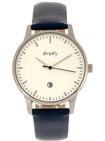 "Simplify Quarzuhr ""The 4300"" Dunkelblau/ Silber/ Weiß"