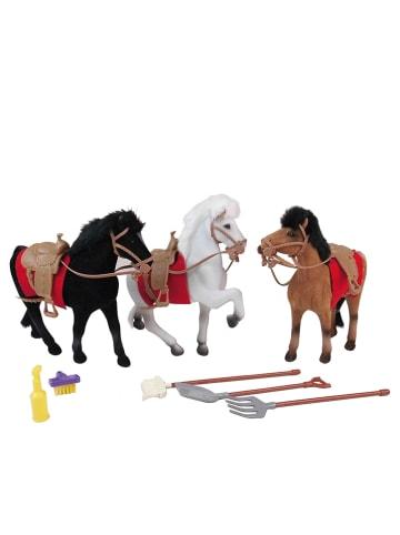 Happy People 8-delige set: paarden en accessoires - vanaf 3 jaar