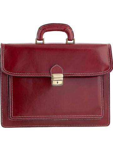 """ORE10 Leder-Businesstasche """"Roma"""" in Rot - (B)41 x (H)31 x (T)18 cm"""