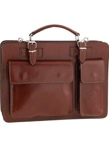 "ORE10 Leder-Businesstasche ""Bologna"" in Braun - (B)38 x (H)29 x (T)11 cm"