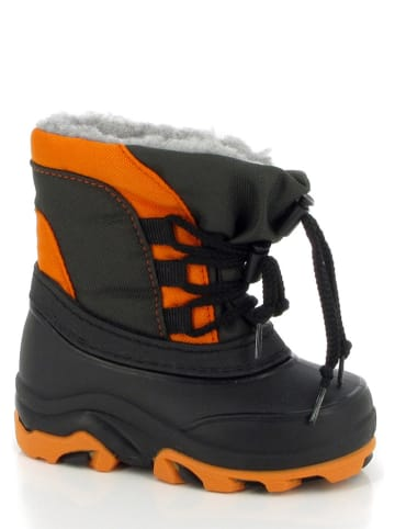 "Kimberfeel Winterboots ""Tyfen"" antraciet/oranje"