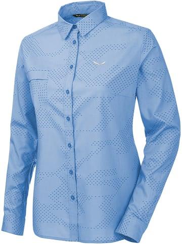 "Salewa Functionele blouse ""Puez Camo"" blauw"