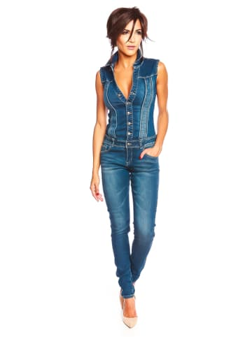 "Saint Germain Paris Jeansjumpsuit ""Kelly"" in Blau"