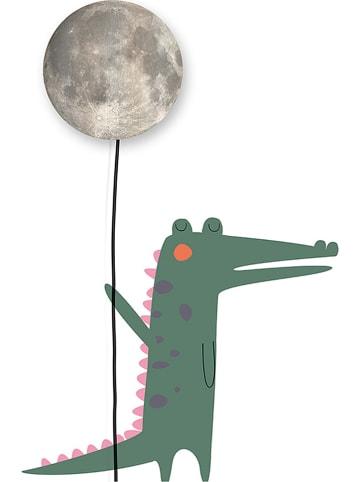 """Little nice things Lampa dekoracyjna LED """"Moon and Back"""" w kolorze zielono-szarym - wys. 120 cm"""