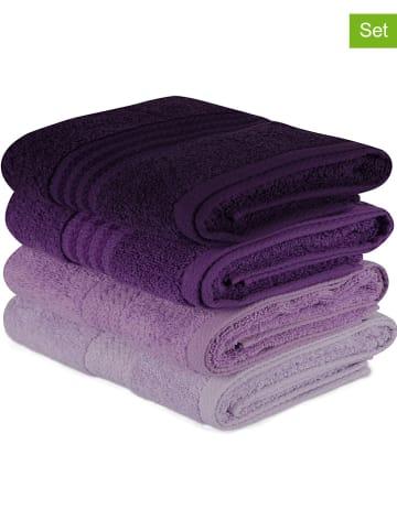 Colorful Cotton 4-delige set: handdoeken paars