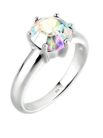 Elli Srebrny pierścionek z kryształem Swarovski
