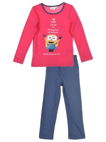 """Minions Piżama """"Minions"""" w kolorze różowo-niebieskim"""