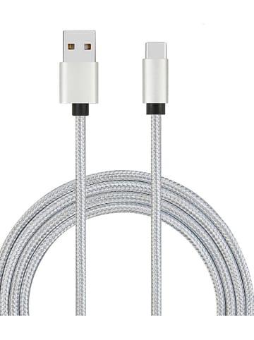 WHIPEARL High speed USB-C-kabel grijs/zilverkleurig - (L)100 cm