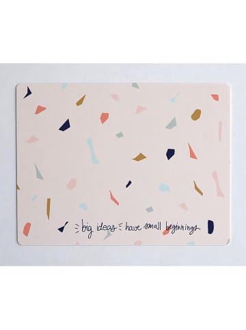 "Madre Selva Kids Bureaumat ""Big Ideas"" lichtroze/meerkleurig - (L)55 x (B)35 cm"