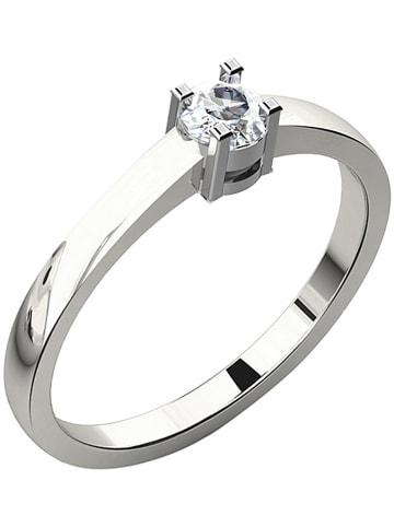 Vittoria Jewels Witgouden ring met diamant