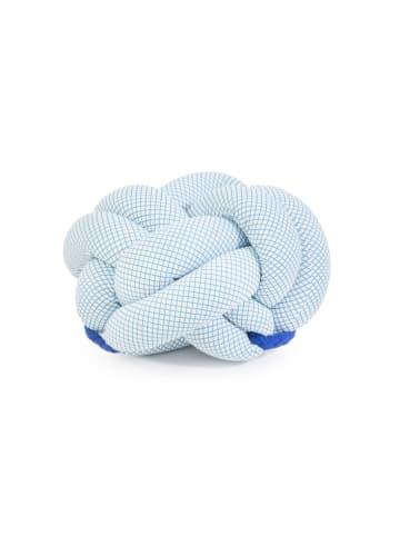 Pandora Trade Pouf crème/lichtblauw/blauw - (B)60 x (H)35 cm
