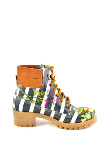Goby Boots wit/donkerblauw