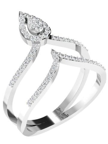 Art of Diamond Weißgold-Ring mit Diamanten