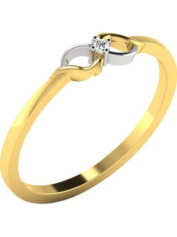 Royal Diamant Gold-/ Weißgold-Ring mit Diamant