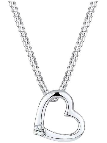 Julie & Grace Srebrny naszyjnik z kryształem Swarovski - dł. 45 cm