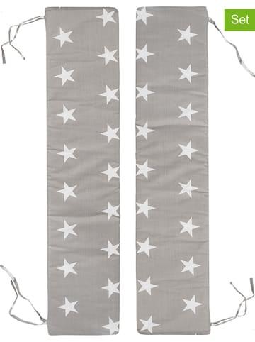 """Roba 2-delige set: bankkussens """"Little Stars"""" grijs - (L)89 x (B)18 cm"""