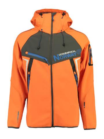 """Geographical Norway Kurtka softshellowa """"Toscou"""" w kolorze pomarańczowym"""
