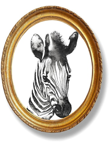 "Madre Selva Wanddecoratie ""Zebra"" - (B)50 x (H)40 cm"