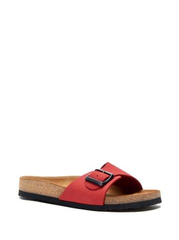 Comfortfusse Leren slippers rood