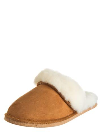 Kitz-pichler Leren pantoffels bruin